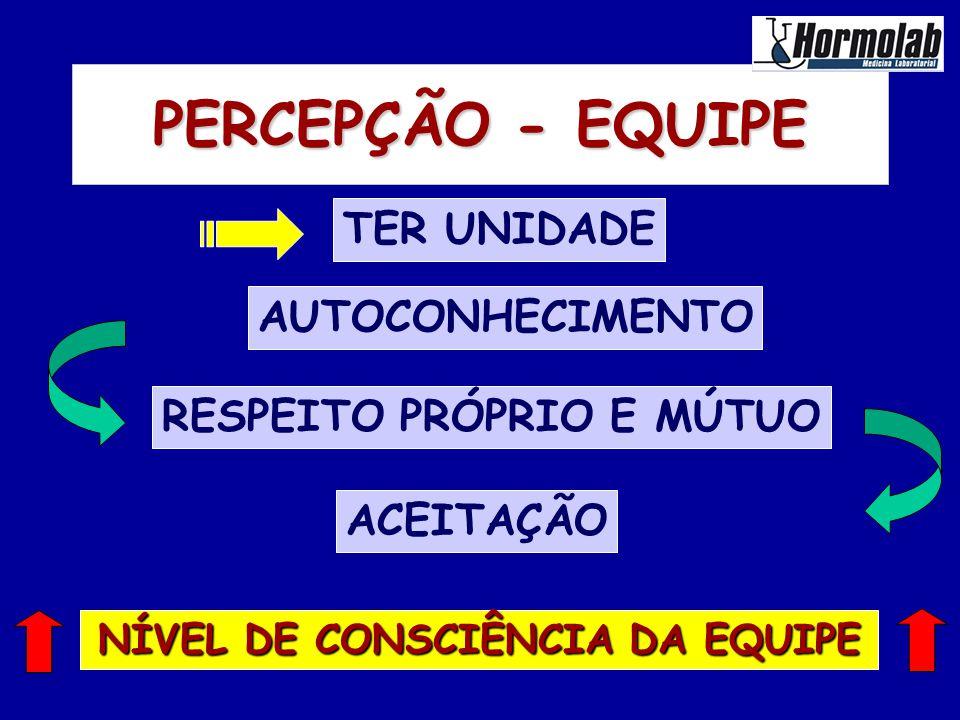 NÍVEL DE CONSCIÊNCIA DA EQUIPE