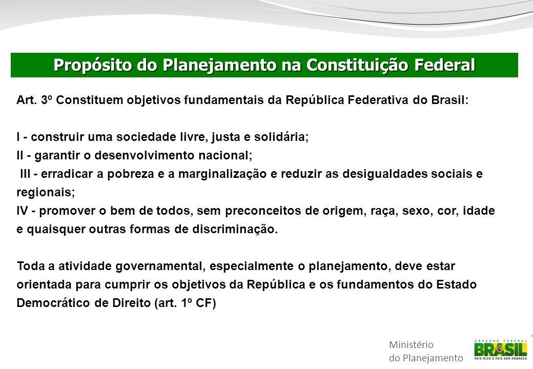 Propósito do Planejamento na Constituição Federal