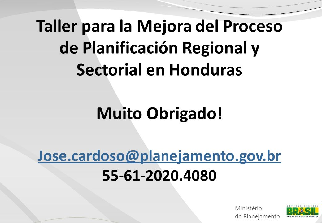 Taller para la Mejora del Proceso de Planificación Regional y Sectorial en Honduras