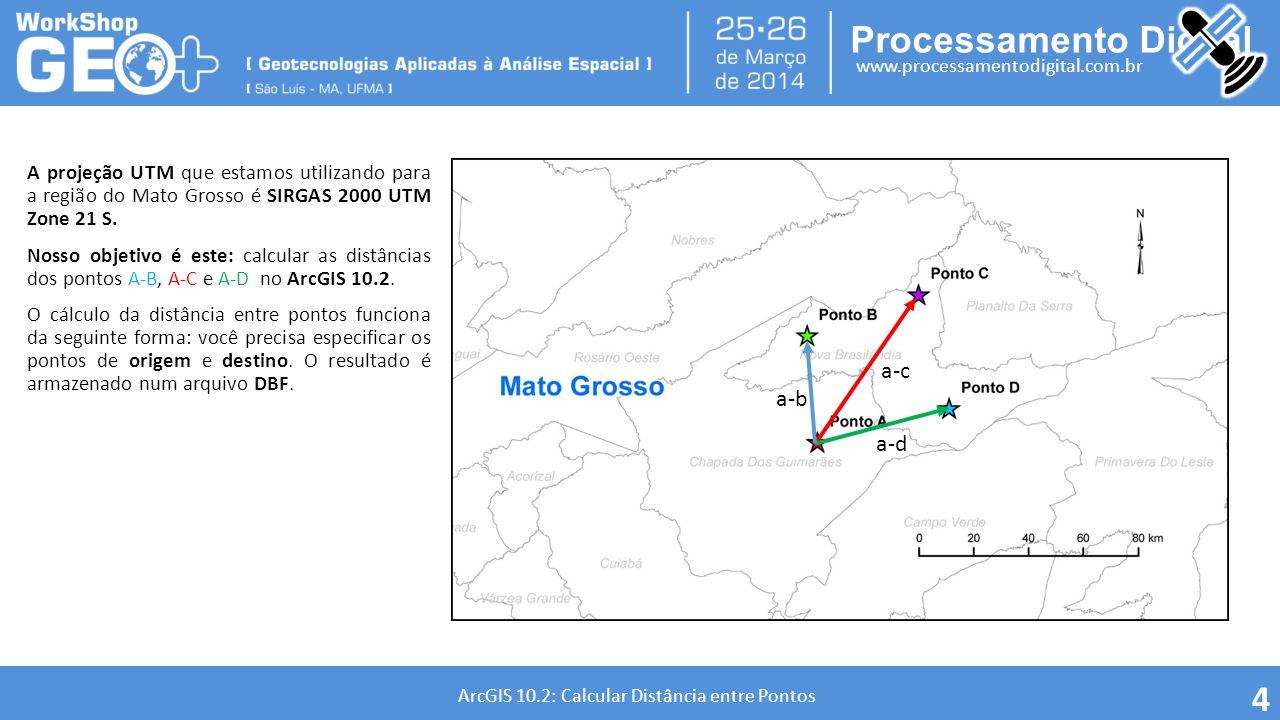 A projeção UTM que estamos utilizando para a região do Mato Grosso é SIRGAS 2000 UTM Zone 21 S.