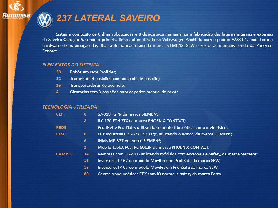 237 LATERAL SAVEIRO ELEMENTOS DO SISTEMA: TECNOLOGIA UTILIZADA: