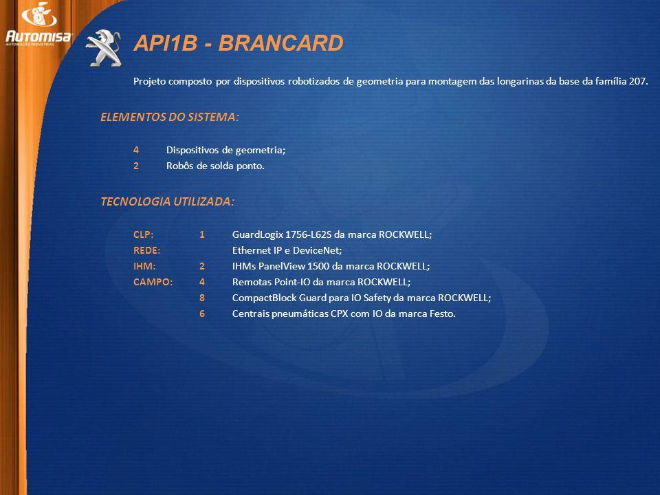 API1B - BRANCARD ELEMENTOS DO SISTEMA: TECNOLOGIA UTILIZADA: