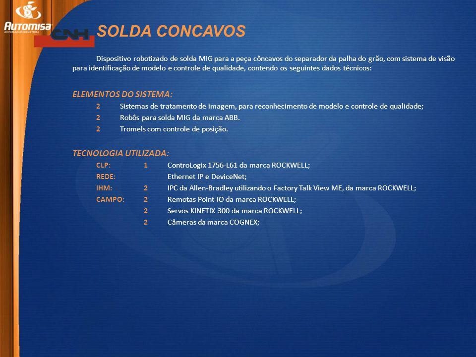 SOLDA CONCAVOS ELEMENTOS DO SISTEMA: TECNOLOGIA UTILIZADA: