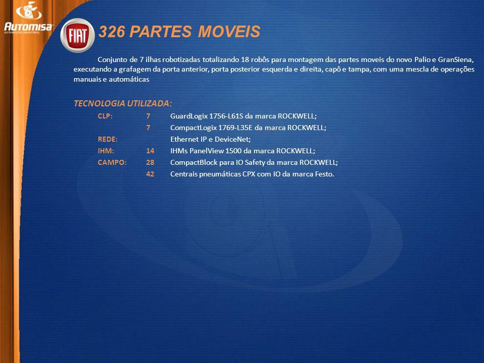 326 PARTES MOVEIS TECNOLOGIA UTILIZADA: