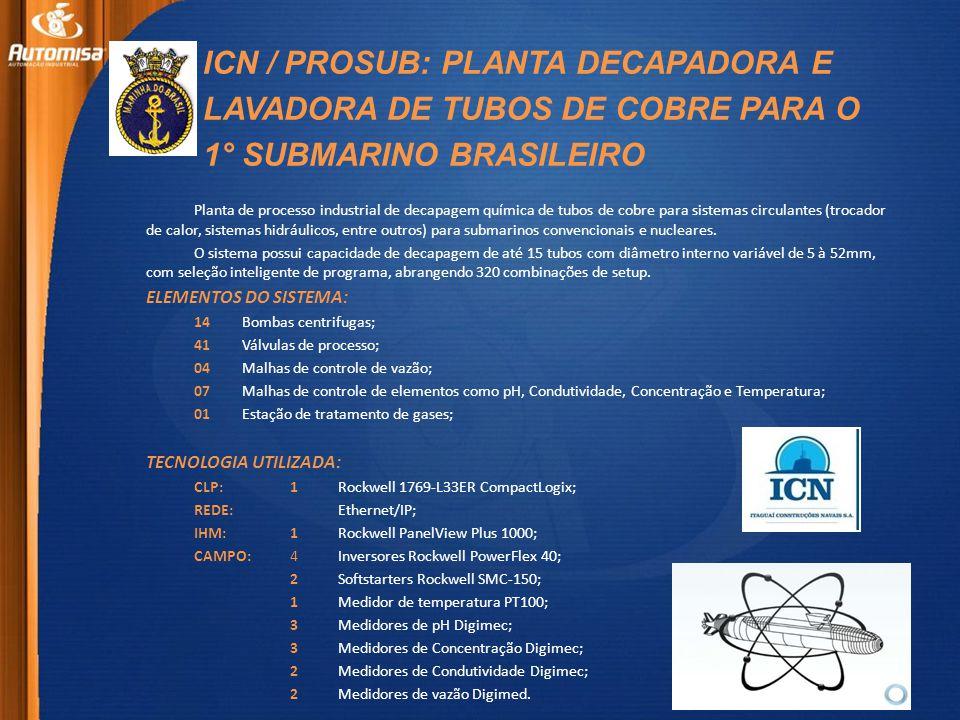 ICN / PROSUB: PLANTA DECAPADORA E LAVADORA DE TUBOS DE COBRE PARA O