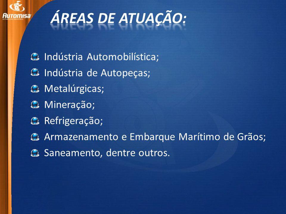 Áreas de atuação: Indústria Automobilística; Indústria de Autopeças;