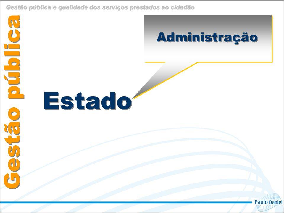 Estado Gestão pública Administração