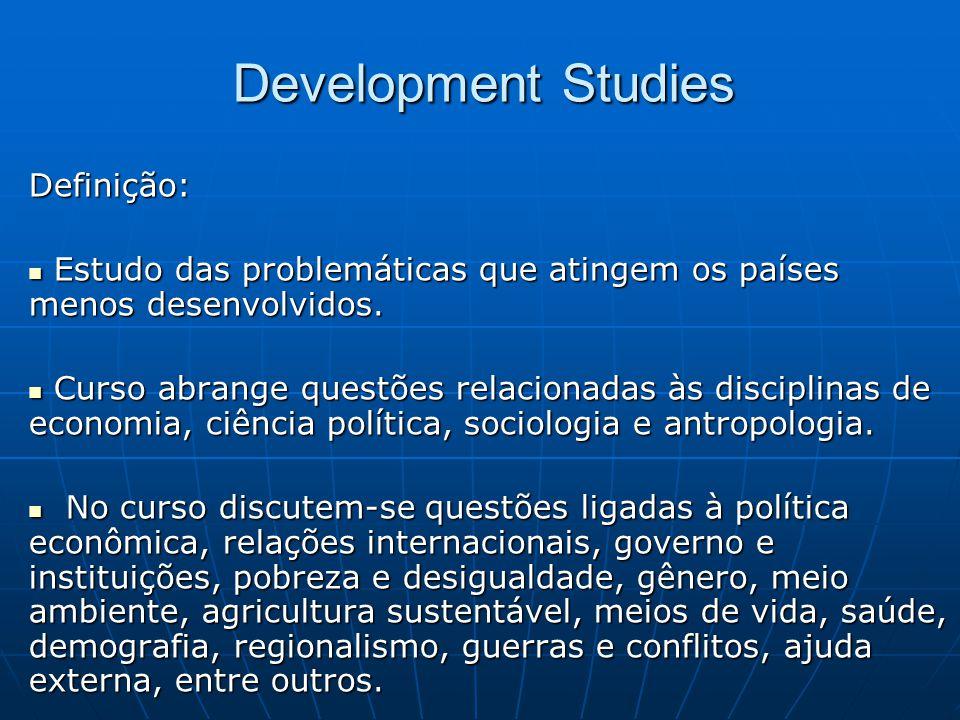 Development Studies Definição: