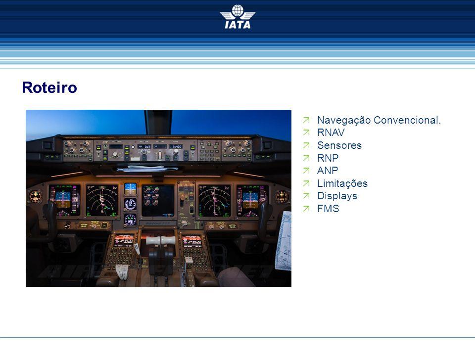 Roteiro Navegação Convencional. RNAV Sensores RNP ANP Limitações