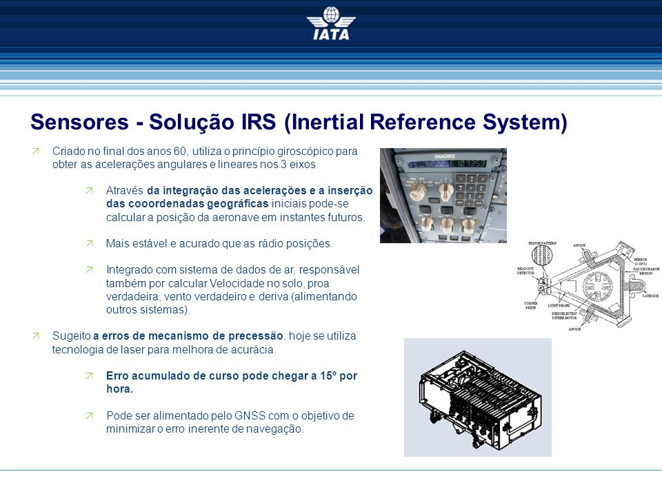 Sensores - Solução IRS (Inertial Reference System)