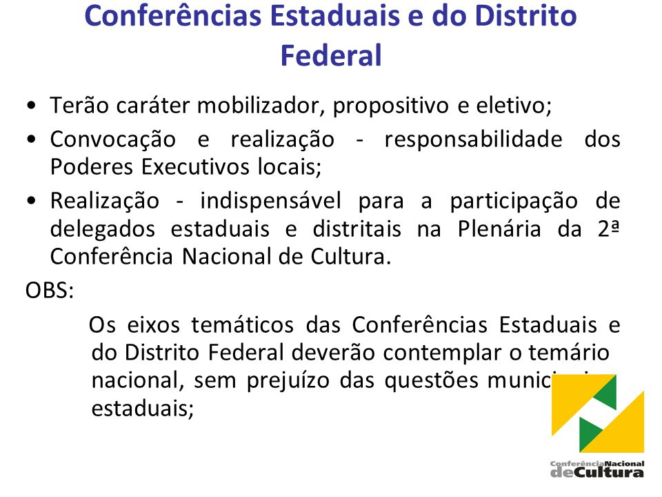 Conferências Estaduais e do Distrito Federal