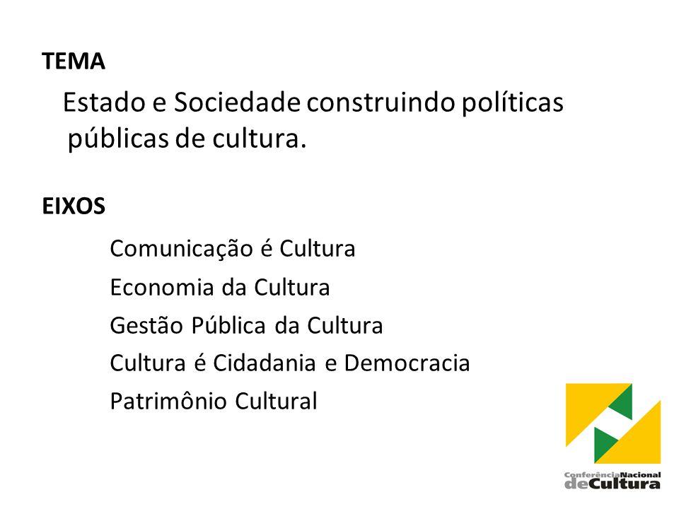 Estado e Sociedade construindo políticas públicas de cultura.