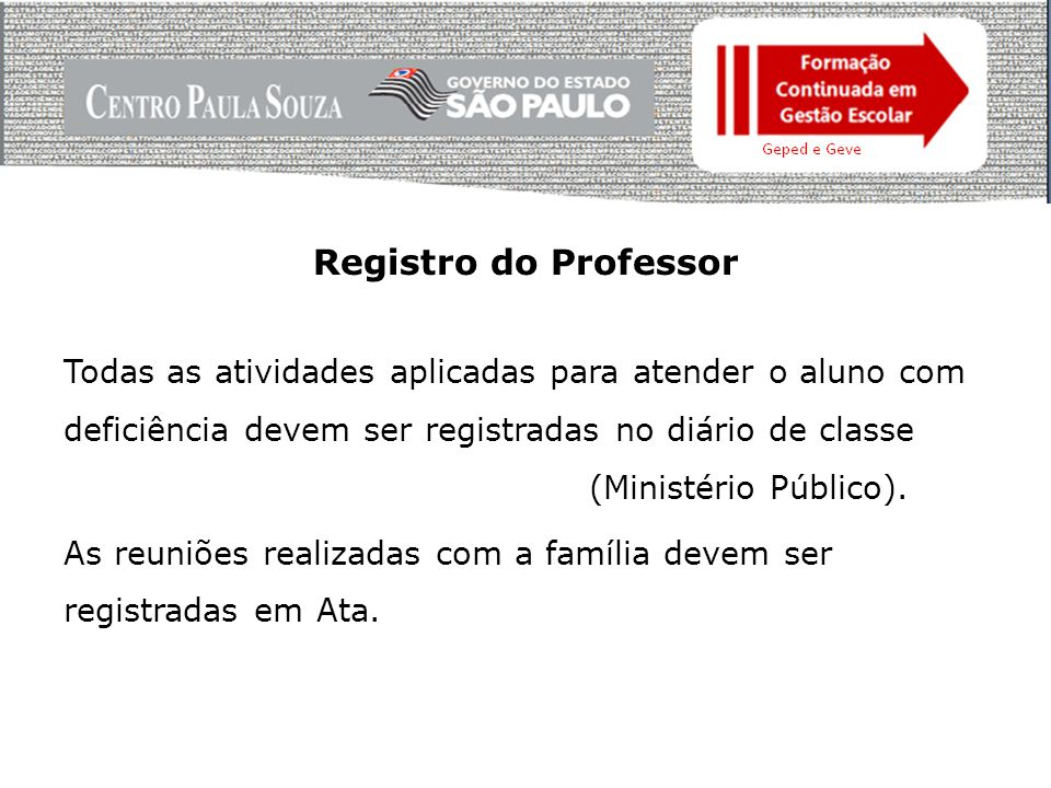 Registro do Professor