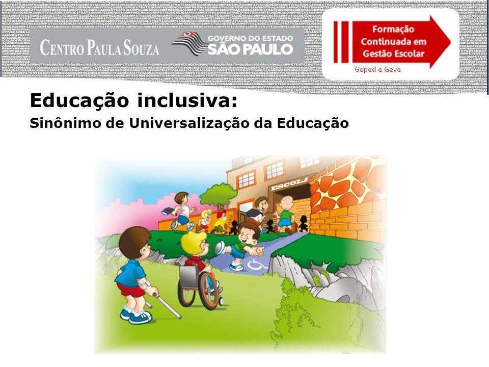 Educação inclusiva: Sinônimo de Universalização da Educação