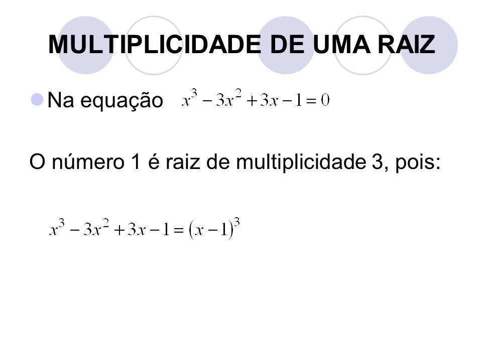 MULTIPLICIDADE DE UMA RAIZ