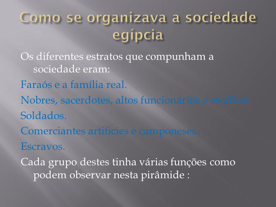 Como se organizava a sociedade egípcia
