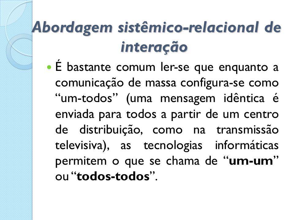 Abordagem sistêmico-relacional de interação