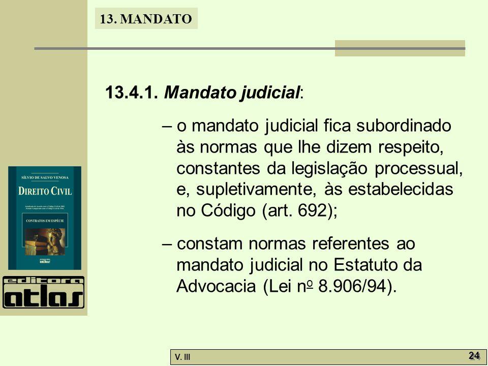 13.4.1. Mandato judicial:
