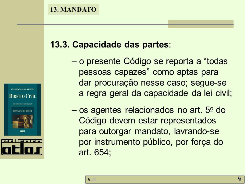 13.3. Capacidade das partes: