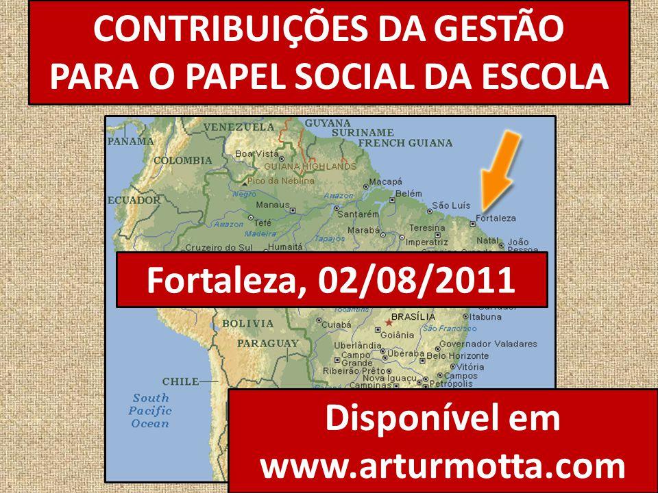 CONTRIBUIÇÕES DA GESTÃO PARA O PAPEL SOCIAL DA ESCOLA