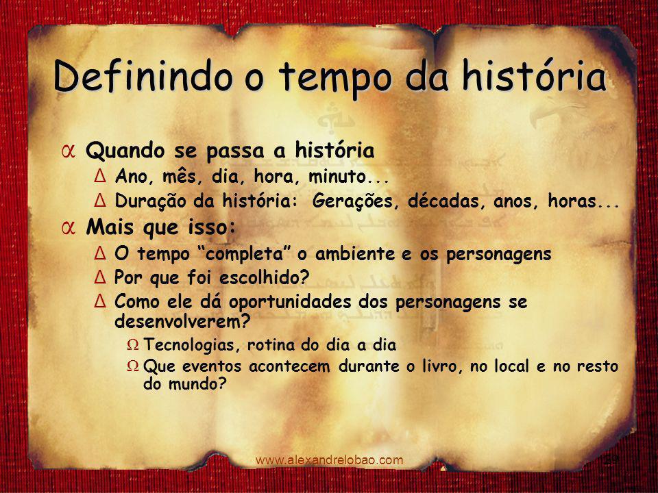 Definindo o tempo da história