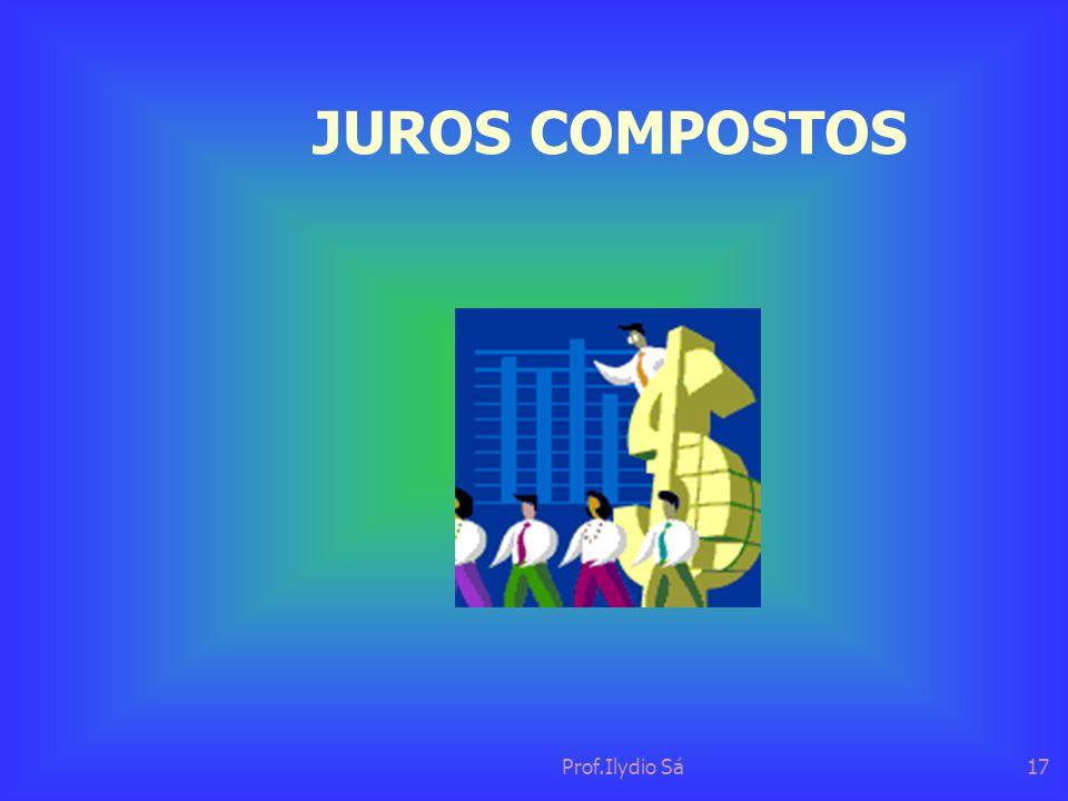 JUROS COMPOSTOS Prof.Ilydio Sá