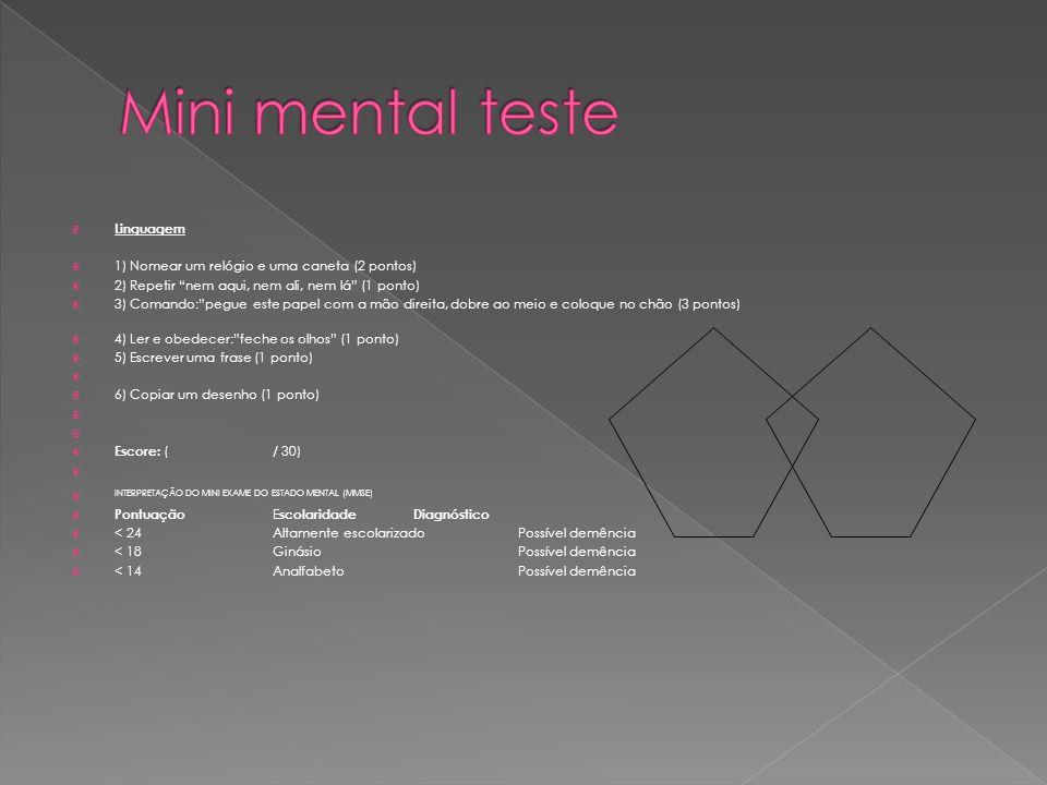 Mini mental teste Linguagem