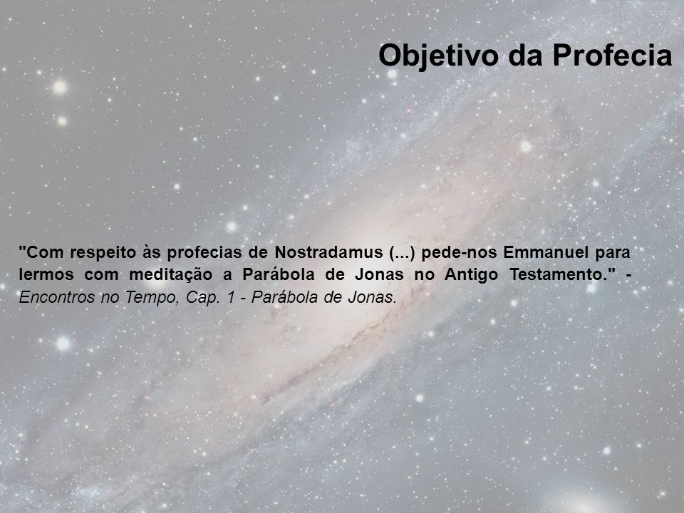 Objetivo da Profecia