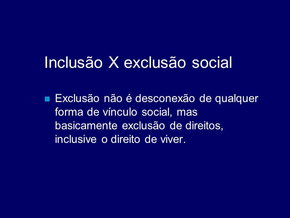 Inclusão X exclusão social