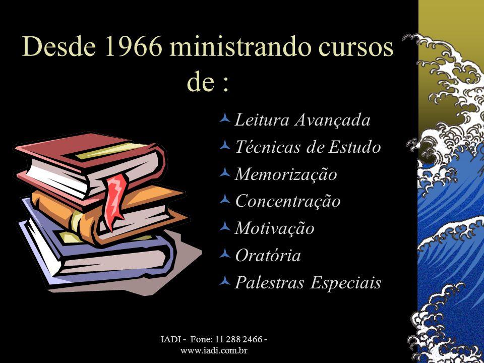 Desde 1966 ministrando cursos de :