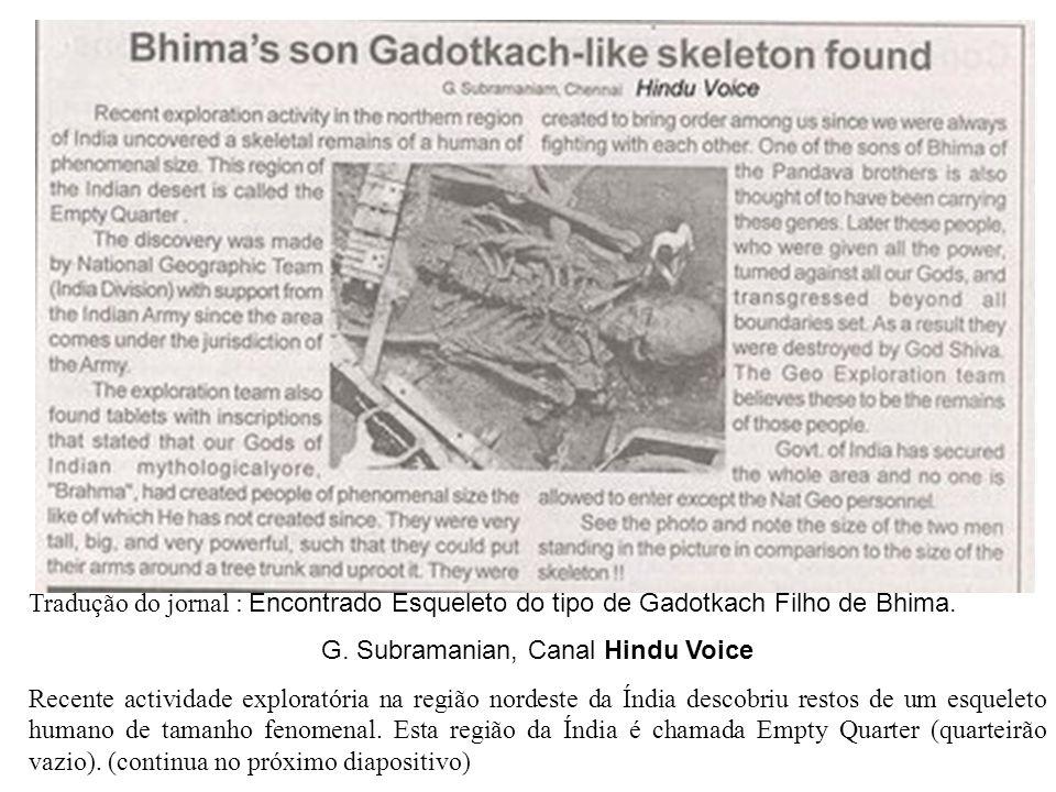 G. Subramanian, Canal Hindu Voice