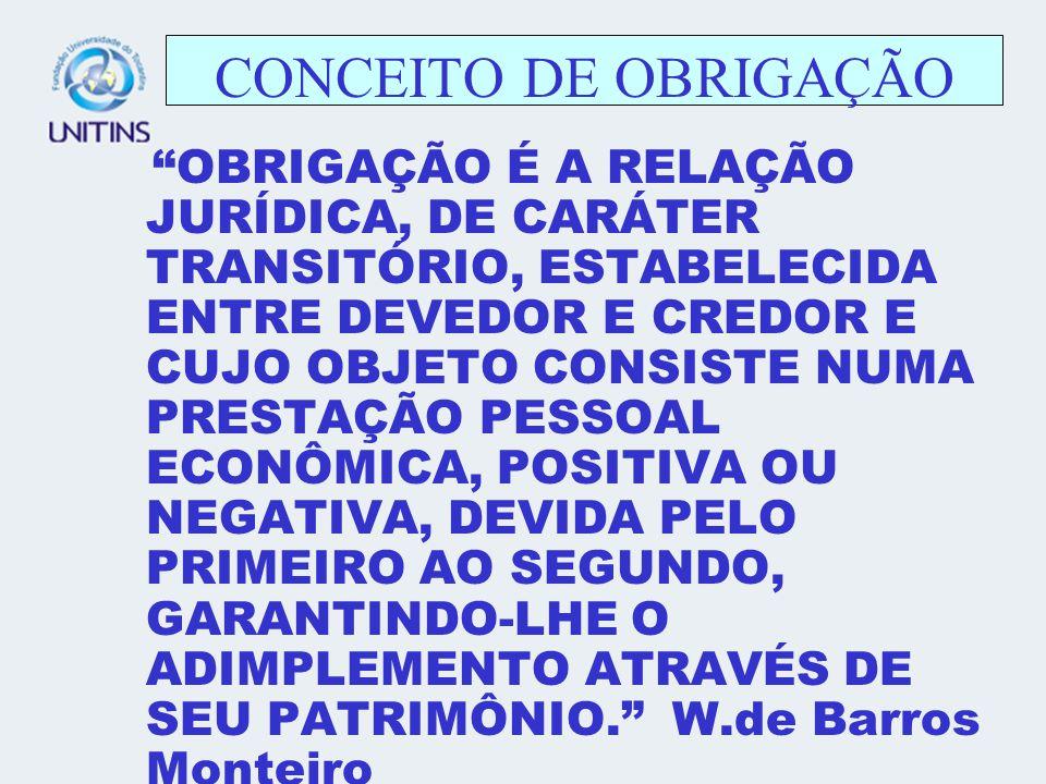 CONCEITO DE OBRIGAÇÃO
