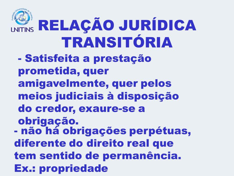 RELAÇÃO JURÍDICA TRANSITÓRIA