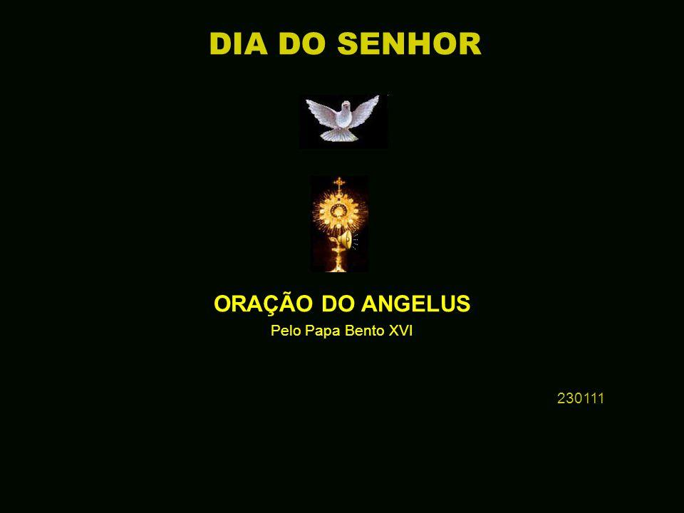 † ORAÇÃO DO ANGELUS Pelo Papa Bento XVI 230111