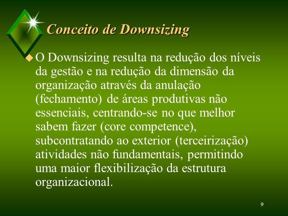 Conceito de Downsizing