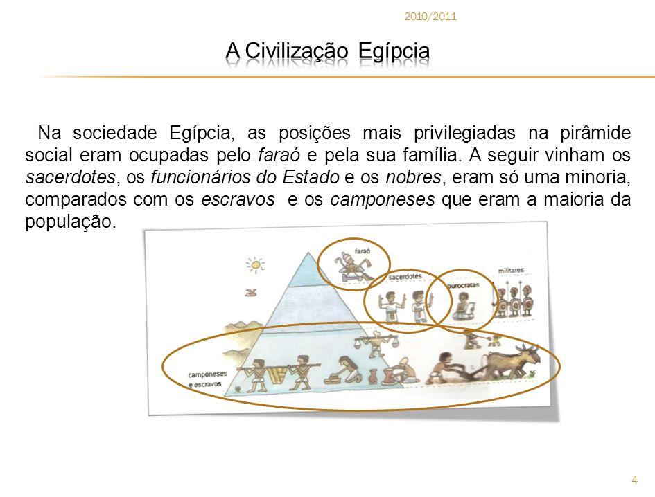 2010/2011 A Civilização Egípcia.