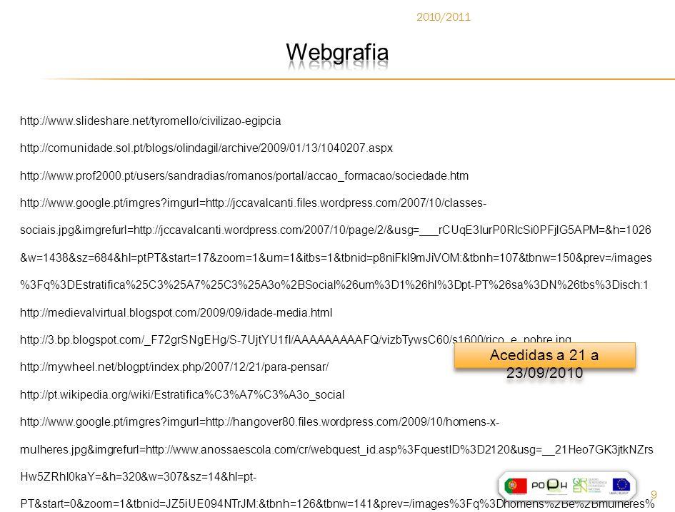 Webgrafia Acedidas a 21 a 23/09/2010 2010/2011