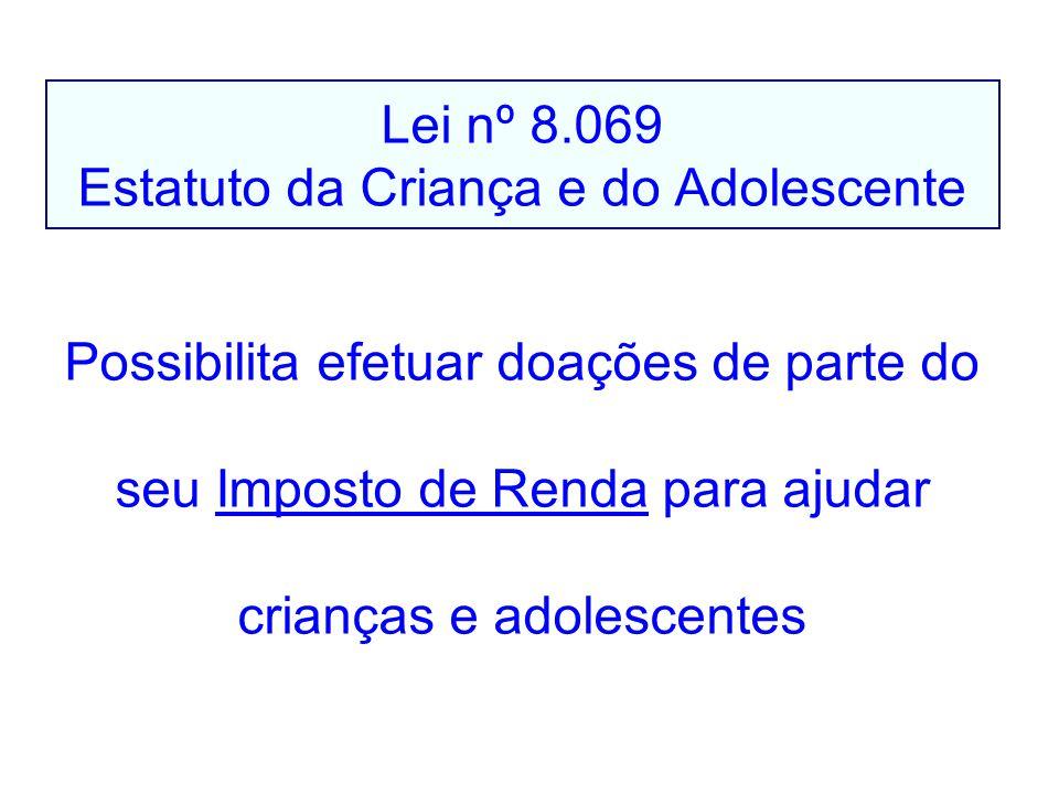 Lei nº 8.069 Estatuto da Criança e do Adolescente