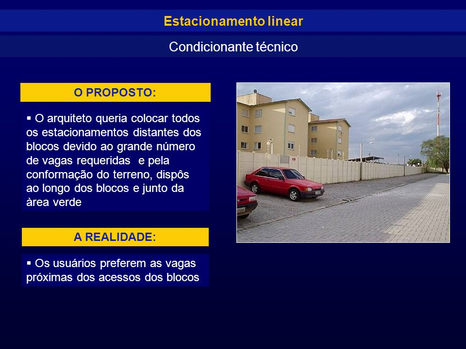 Estacionamento linear