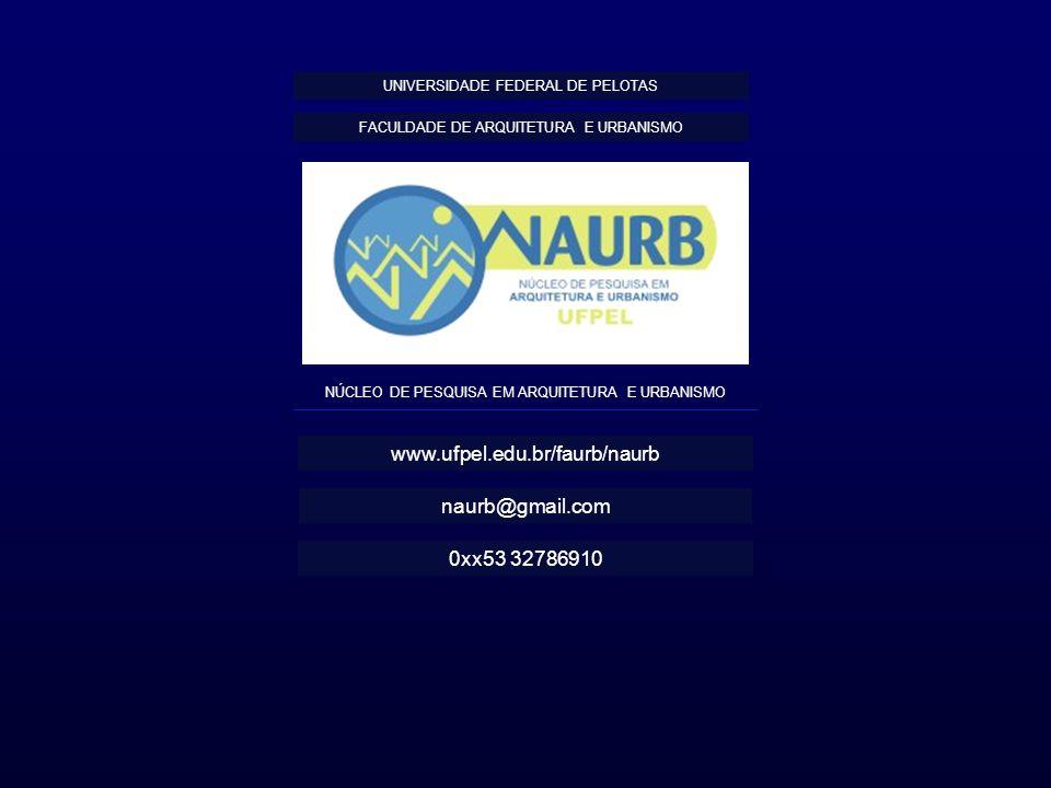 www.ufpel.edu.br/faurb/naurb naurb@gmail.com 0xx53 32786910