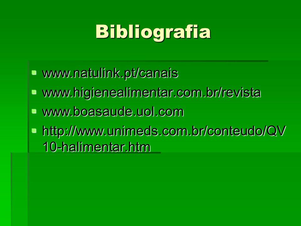Bibliografia www.natulink.pt/canais