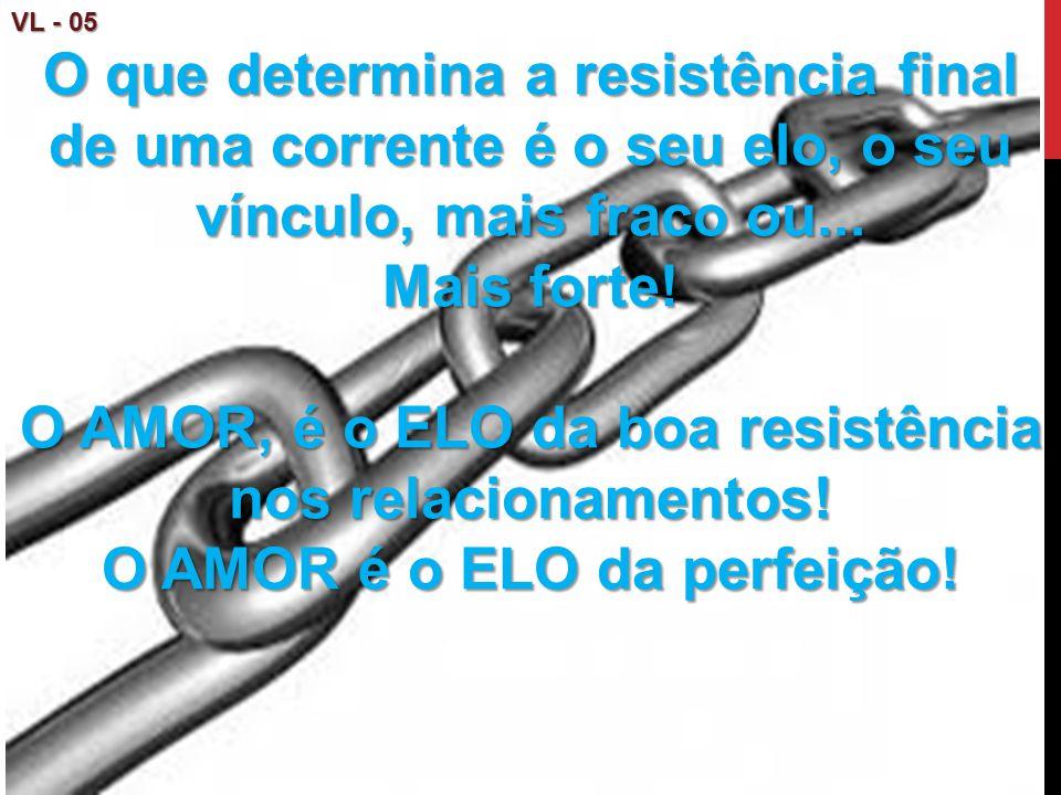 O AMOR, é o ELO da boa resistência nos relacionamentos!