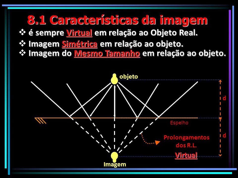 8.1 Características da imagem