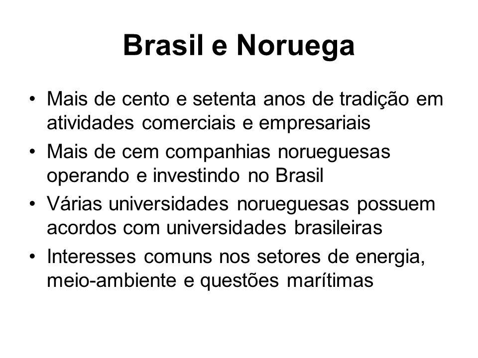 Brasil e Noruega Mais de cento e setenta anos de tradição em atividades comerciais e empresariais.