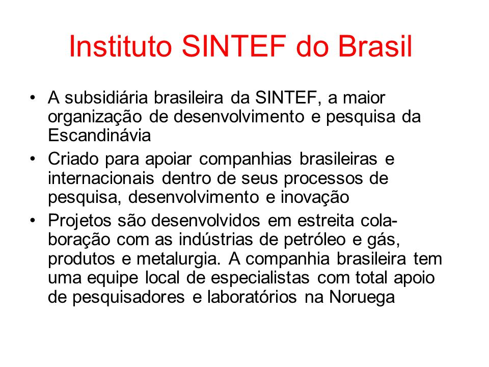 Instituto SINTEF do Brasil