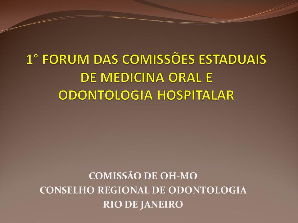 COMISSÃO DE OH-MO CONSELHO REGIONAL DE ODONTOLOGIA RIO DE JANEIRO