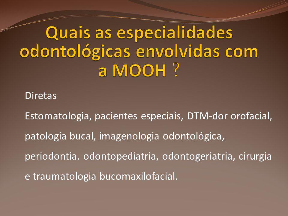 Quais as especialidades odontológicas envolvidas com a MOOH