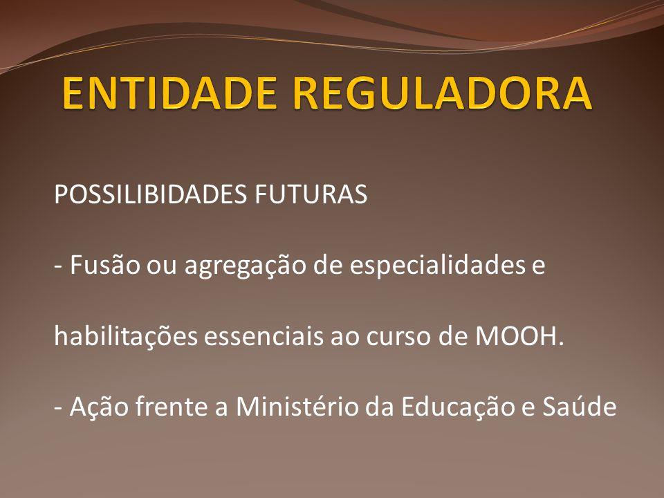 ENTIDADE REGULADORA POSSILIBIDADES FUTURAS