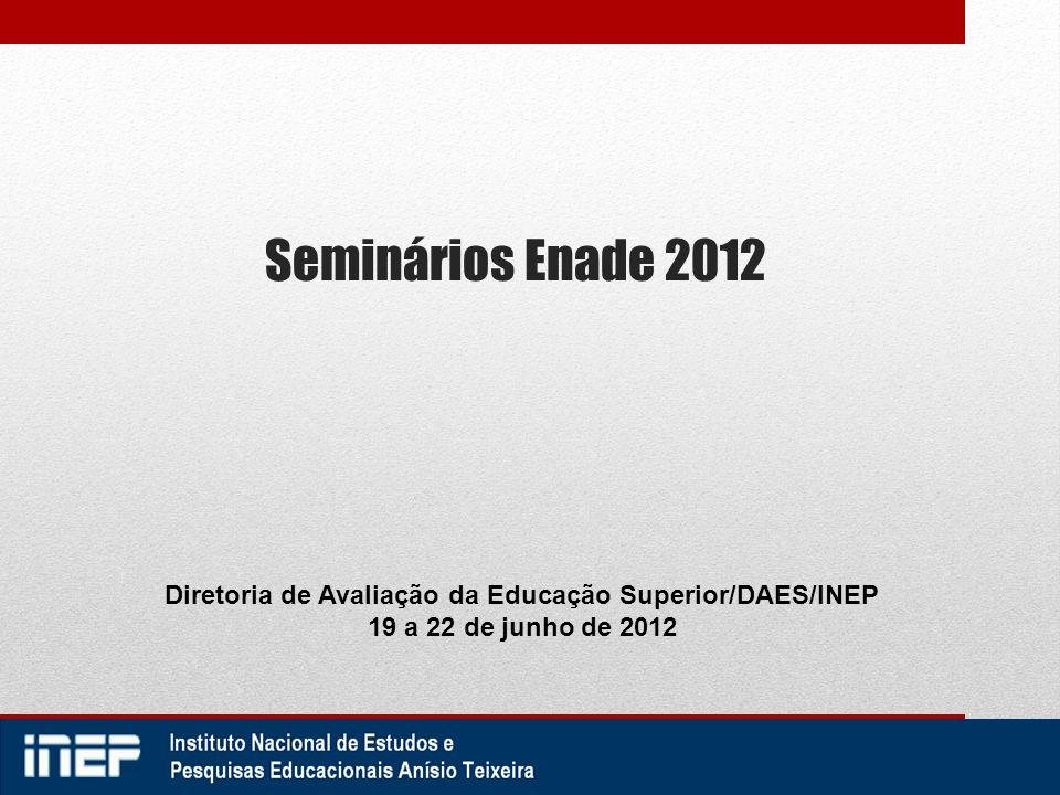 Diretoria de Avaliação da Educação Superior/DAES/INEP