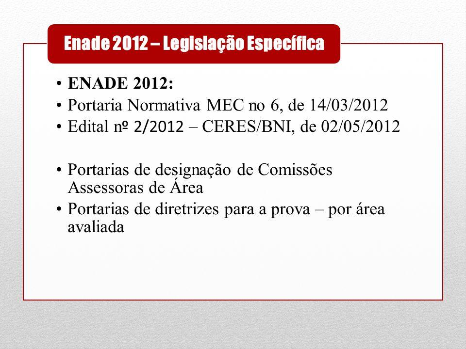 Enade 2012 – Legislação Específica